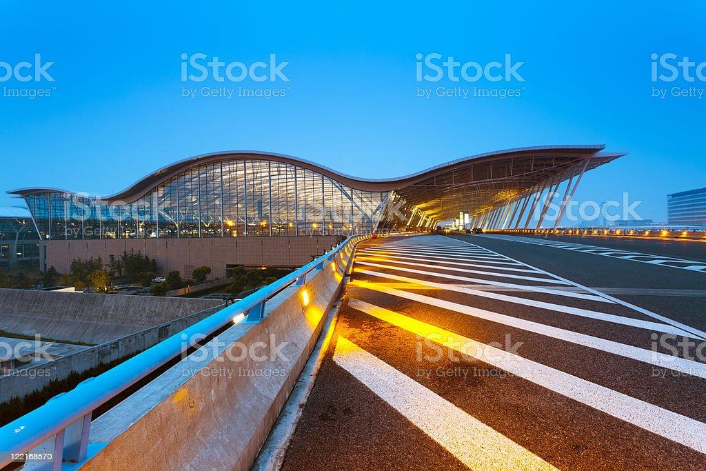 shanghai airport royalty-free stock photo