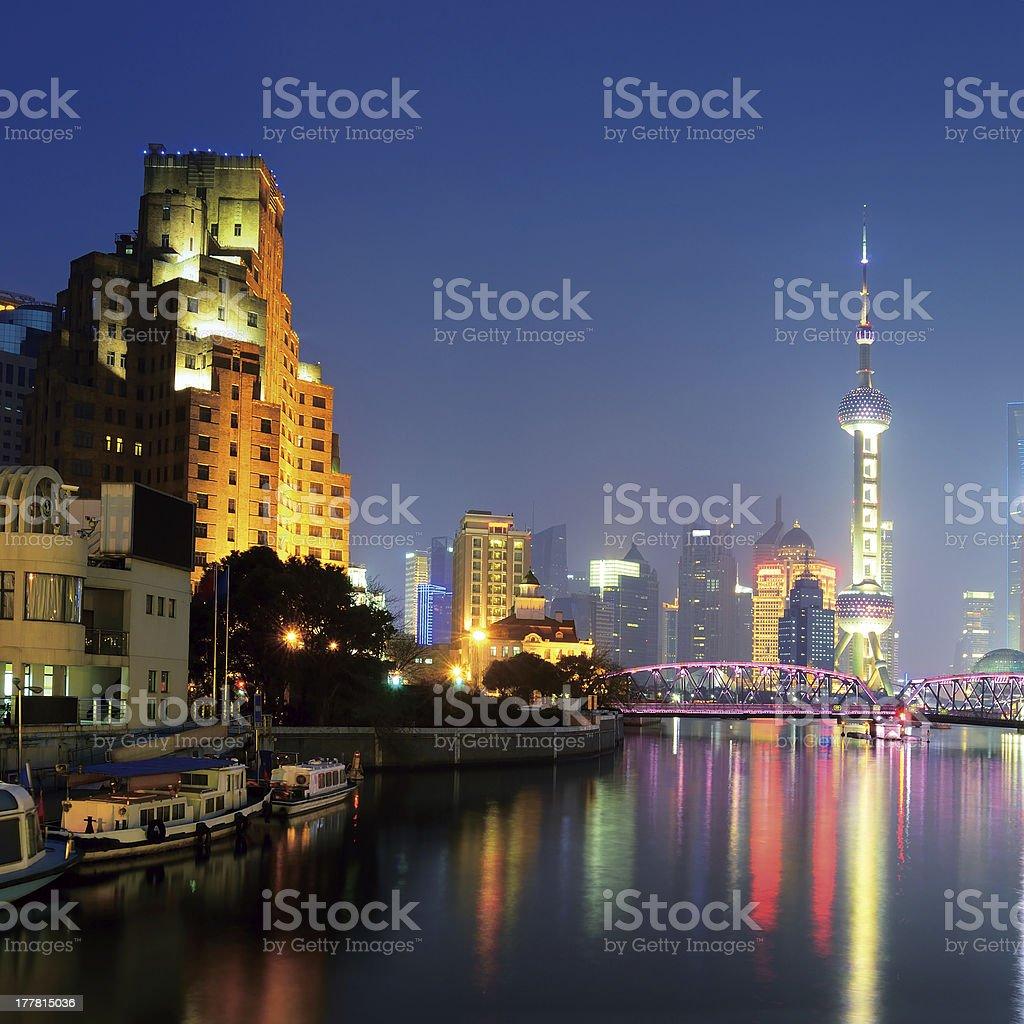 Shanghai and Suzhou river royalty-free stock photo