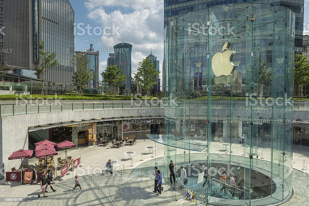Shanghai Apple Store in Pudong Financial District China royalty-free stock photo