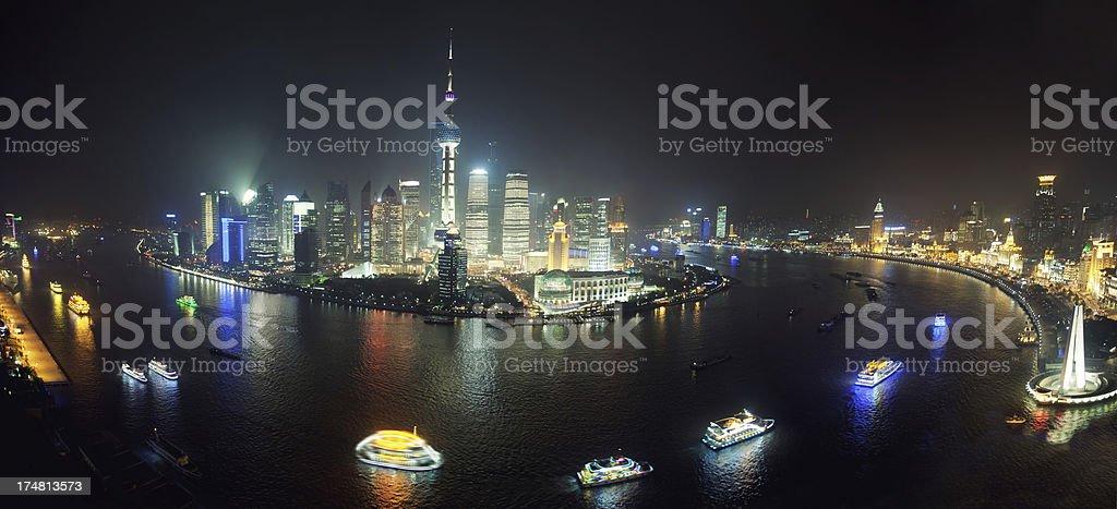 Shanghai at night stock photo