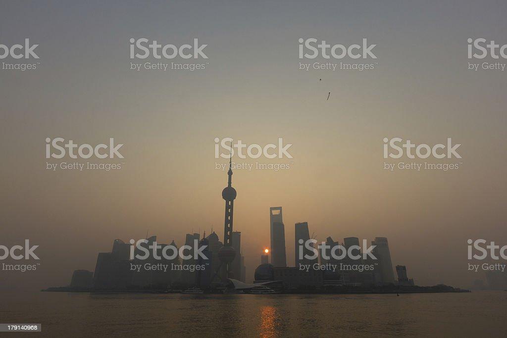 Shanghai at Sunrise royalty-free stock photo