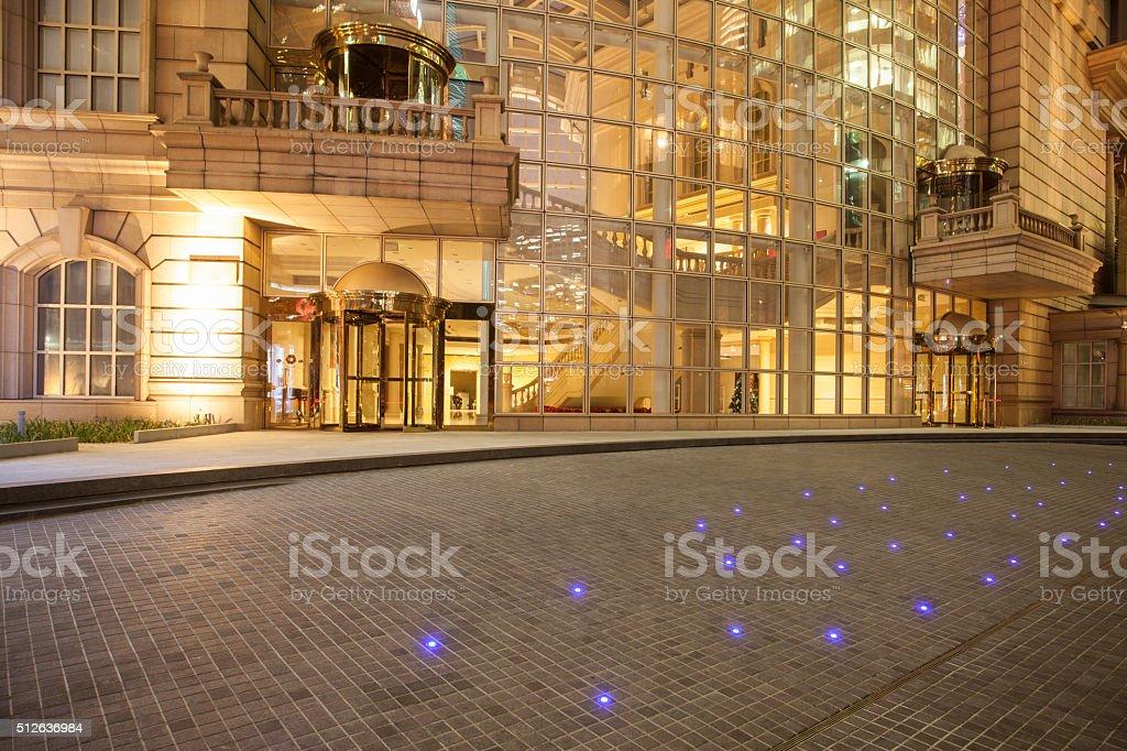 Shanghai Building Night stock photo