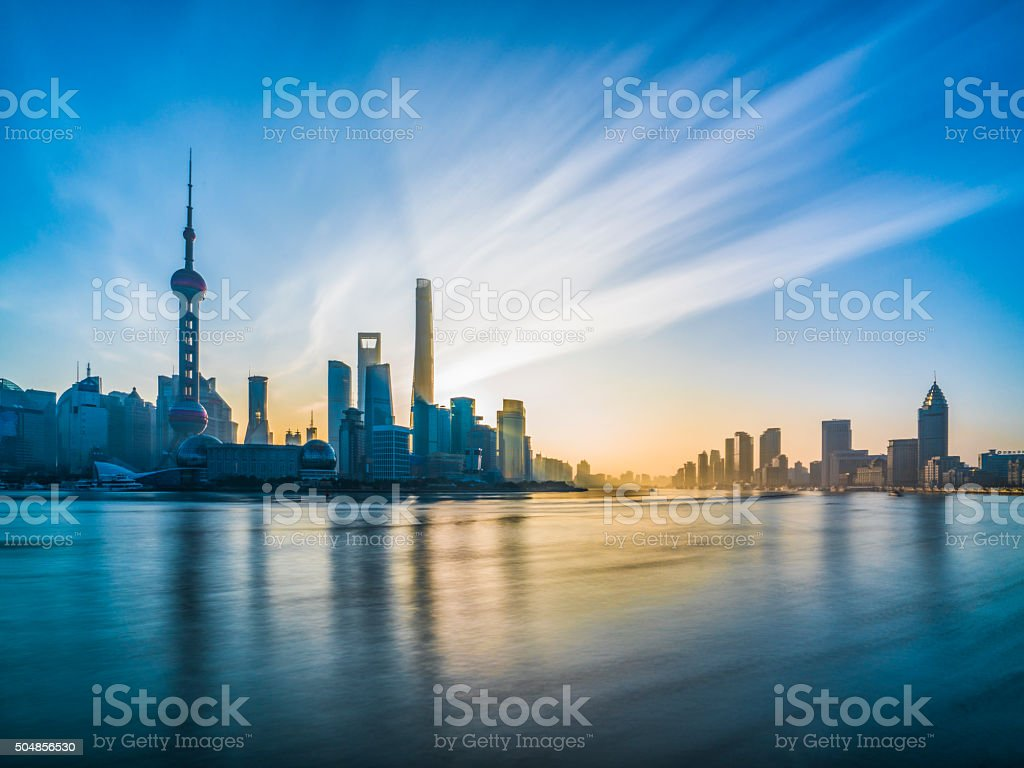 Shanghai Bund stock photo