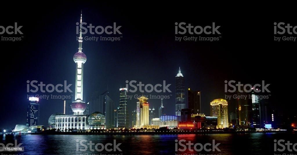 Shanghai by night stock photo