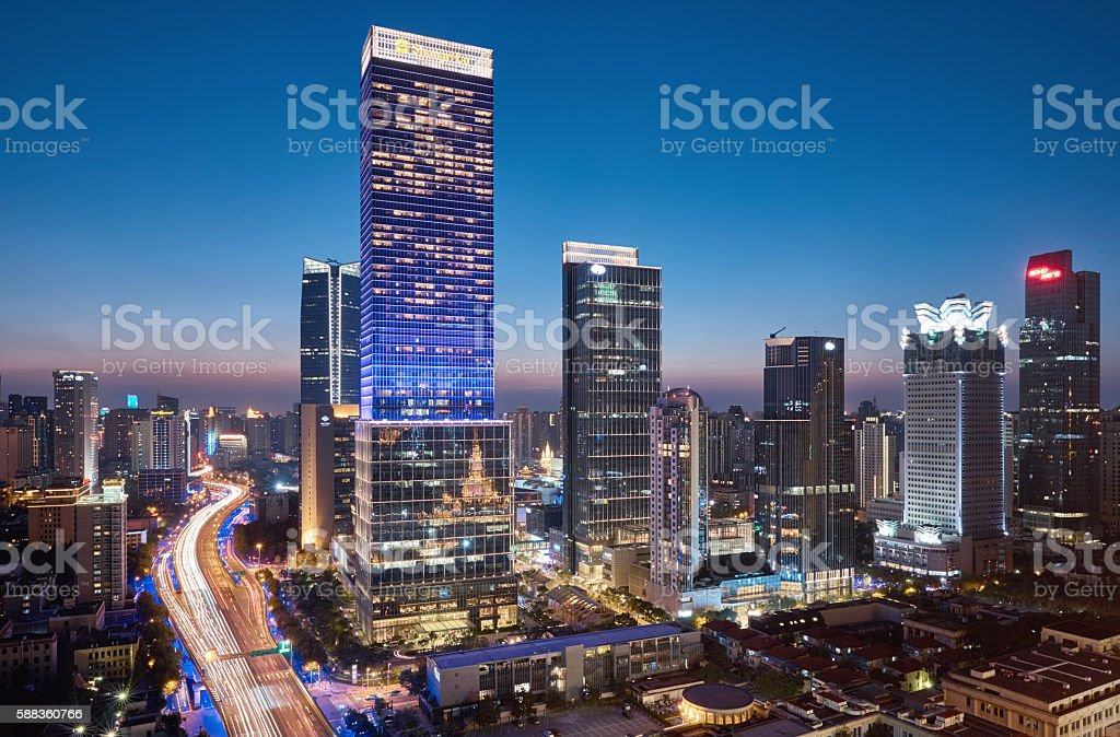 Shanghai Central business district stock photo