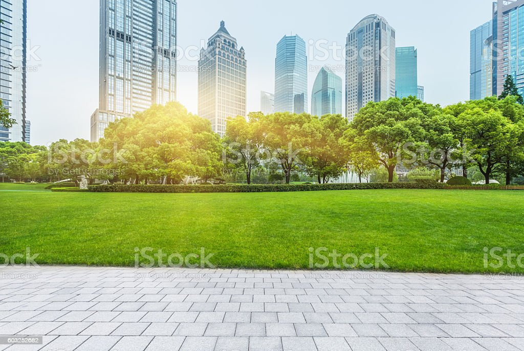 shanghai central park stock photo