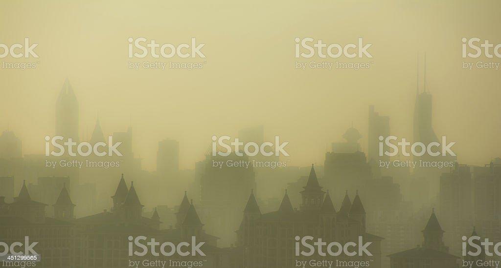 Shanghai city line stock photo
