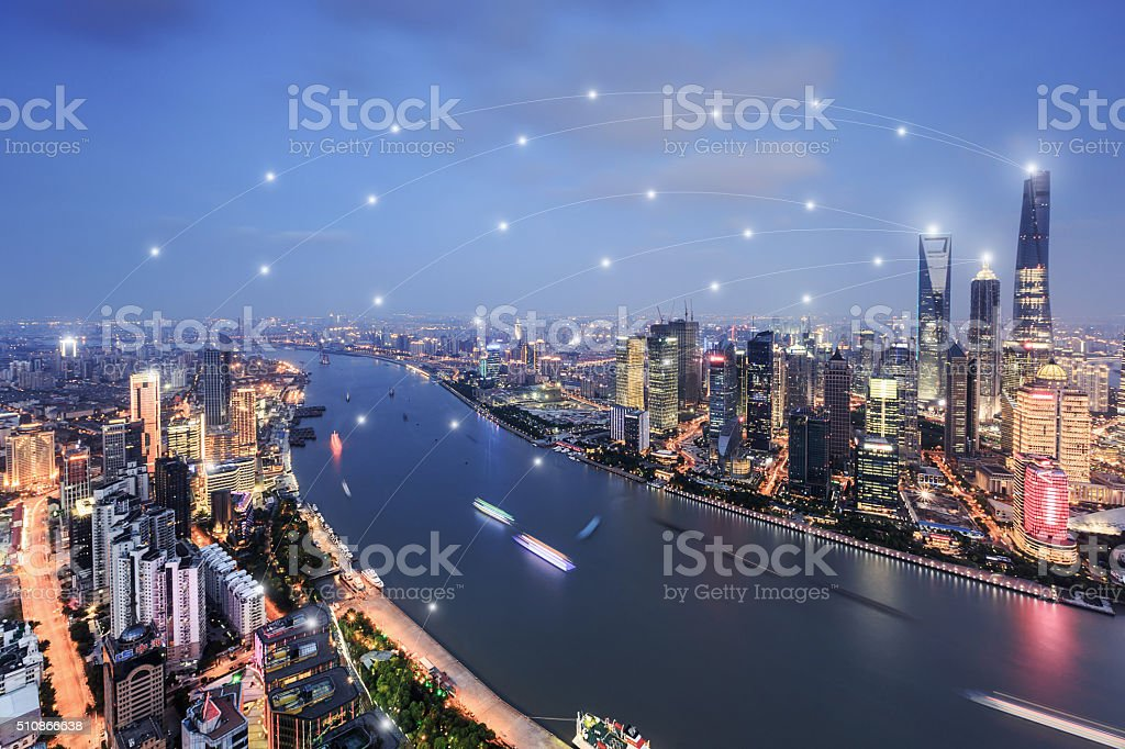 Shanghai City scenery stock photo
