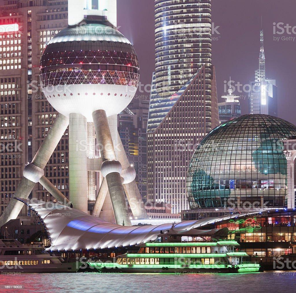 Shanghai City Skyline in China stock photo
