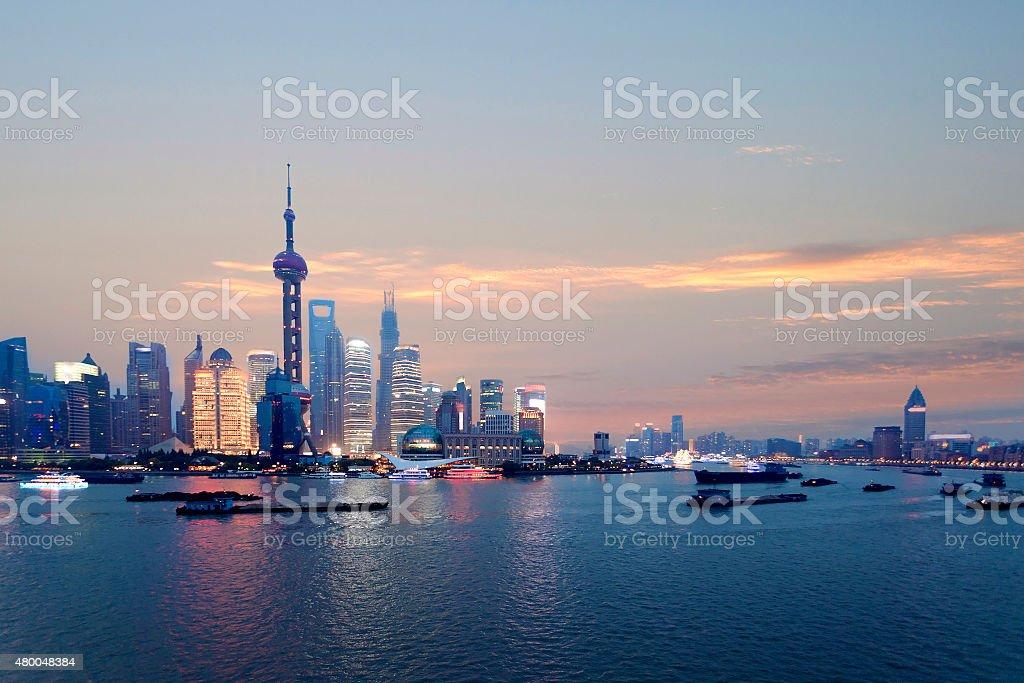 Shanghai city skyline stock photo