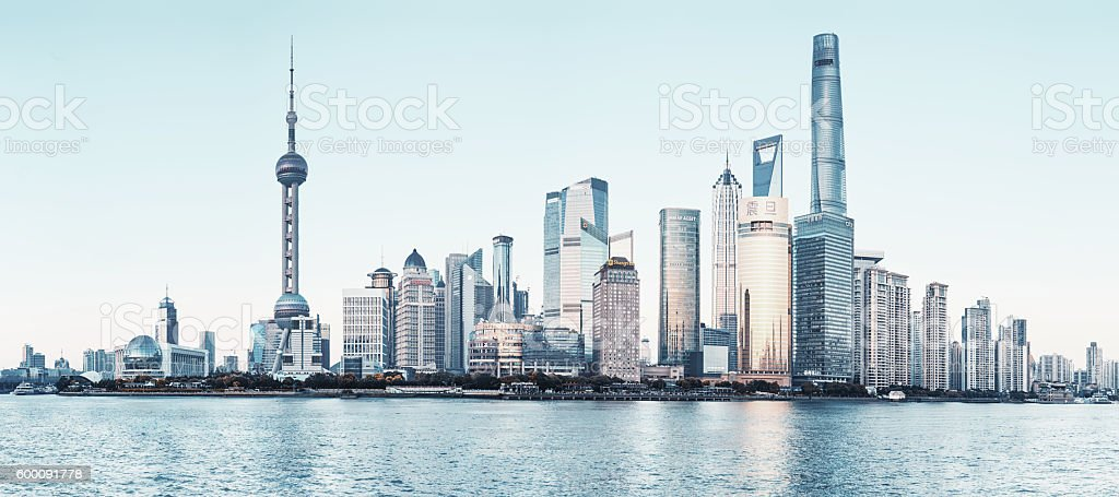 Shanghai city skyline stock photo