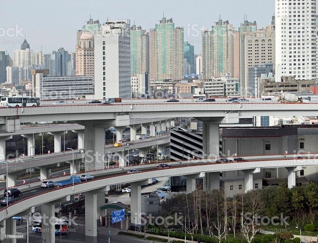 Shanghai city view royalty-free stock photo