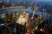 Shanghai cityscape at dusk