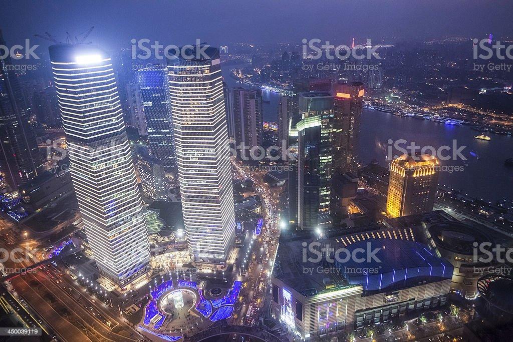 shanghai cityscape stock photo