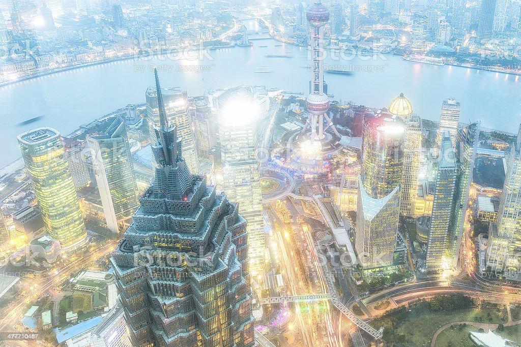 Shanghai Cityscape royalty-free stock photo