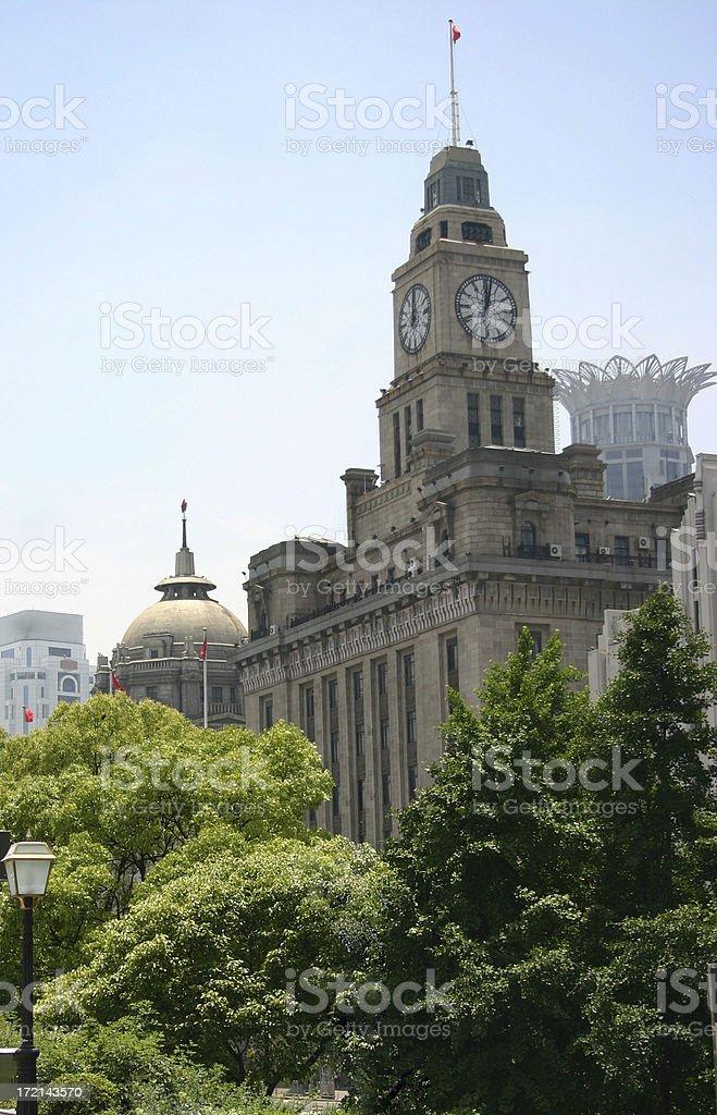 shanghai: clock tower stock photo