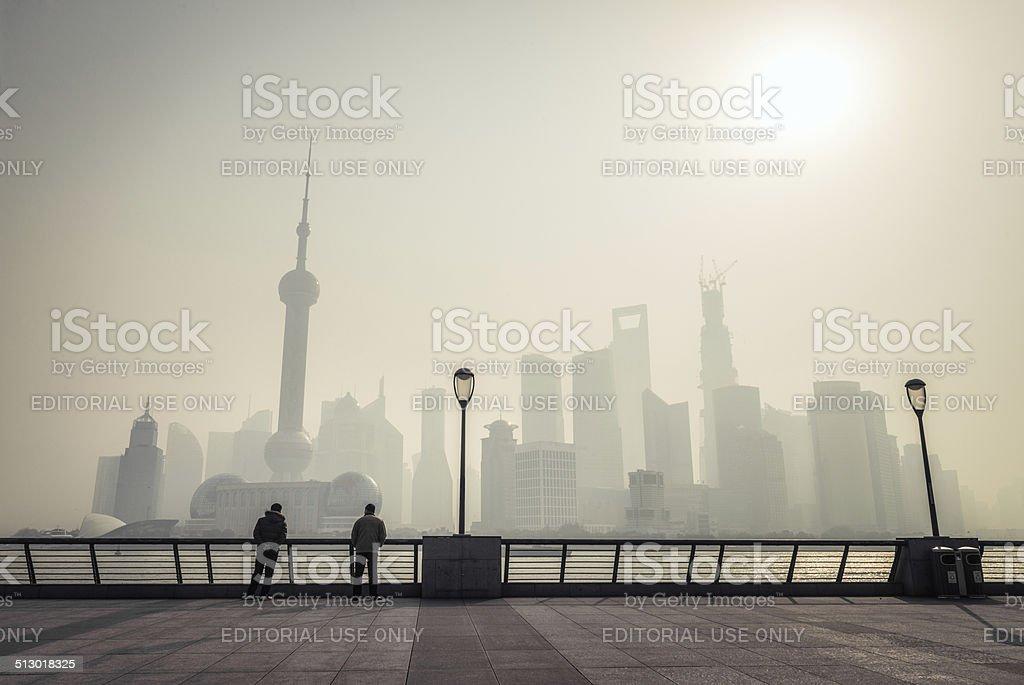 Shanghai Dawn stock photo