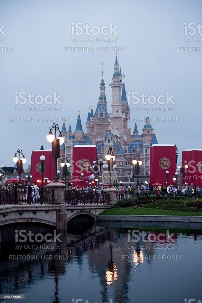 Shanghai Disneyland Enchanted Storybook Castle stock photo