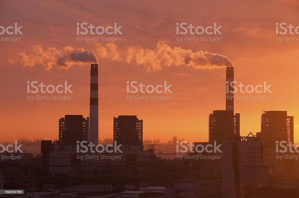 Shanghai Factories royalty-free stock photo