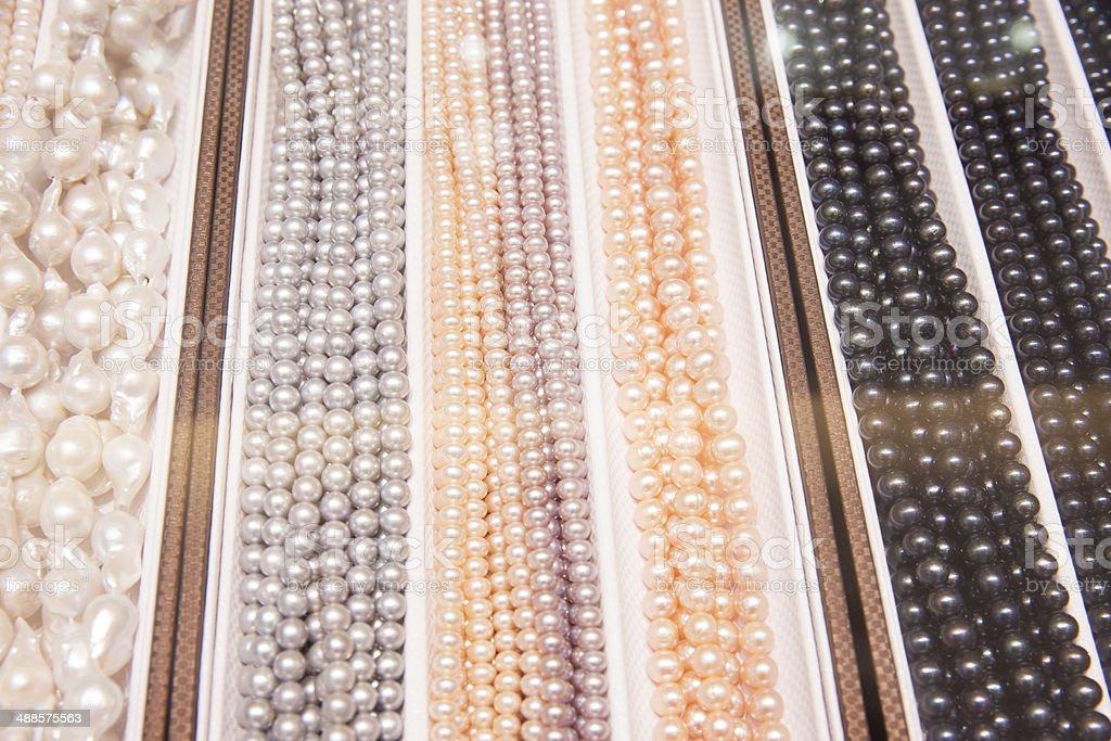 Shanghai freshwater pearls stock photo