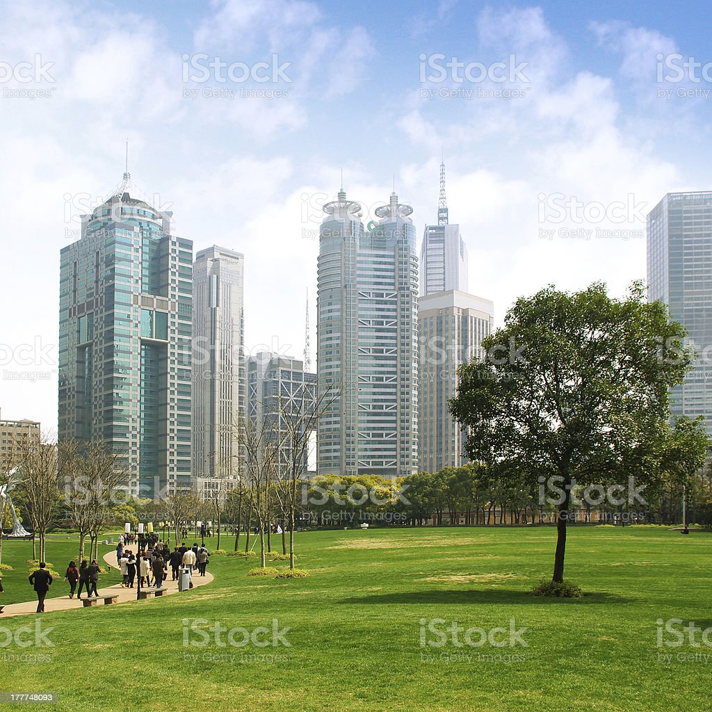 Shanghai grassland construction stock photo