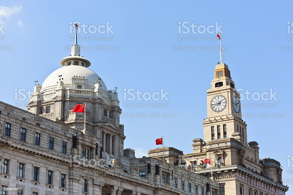 Shanghai Group of Buildings in Millions of Coutries' Style scenery stock photo
