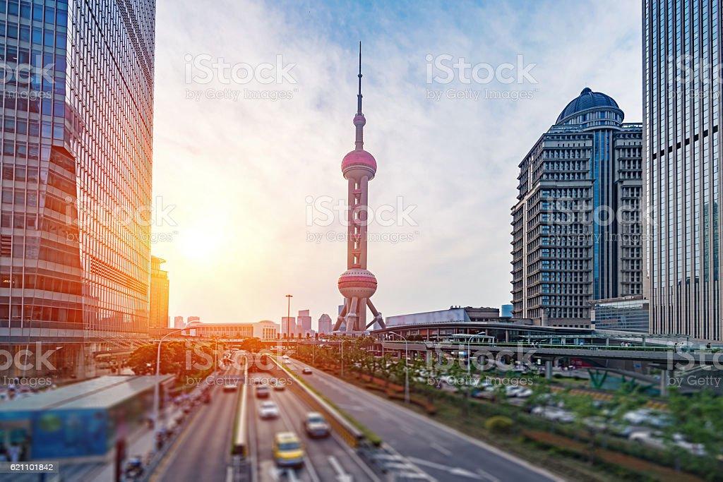 Shanghai high - rise building stock photo