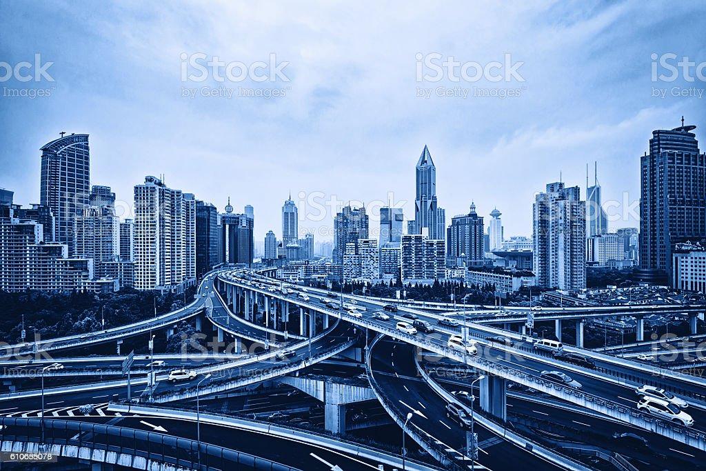 Shanghai Highway Bridge stock photo