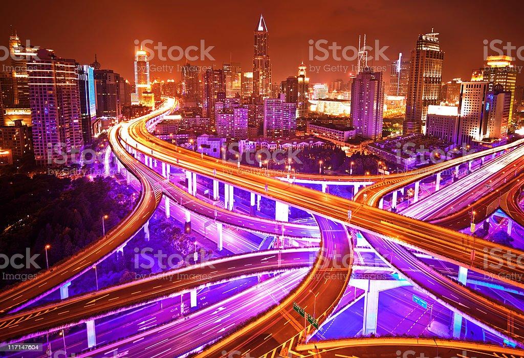 Shanghai Highway royalty-free stock photo