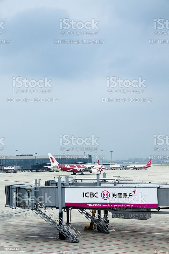 shanghai hongqiao  International Airport stock photo