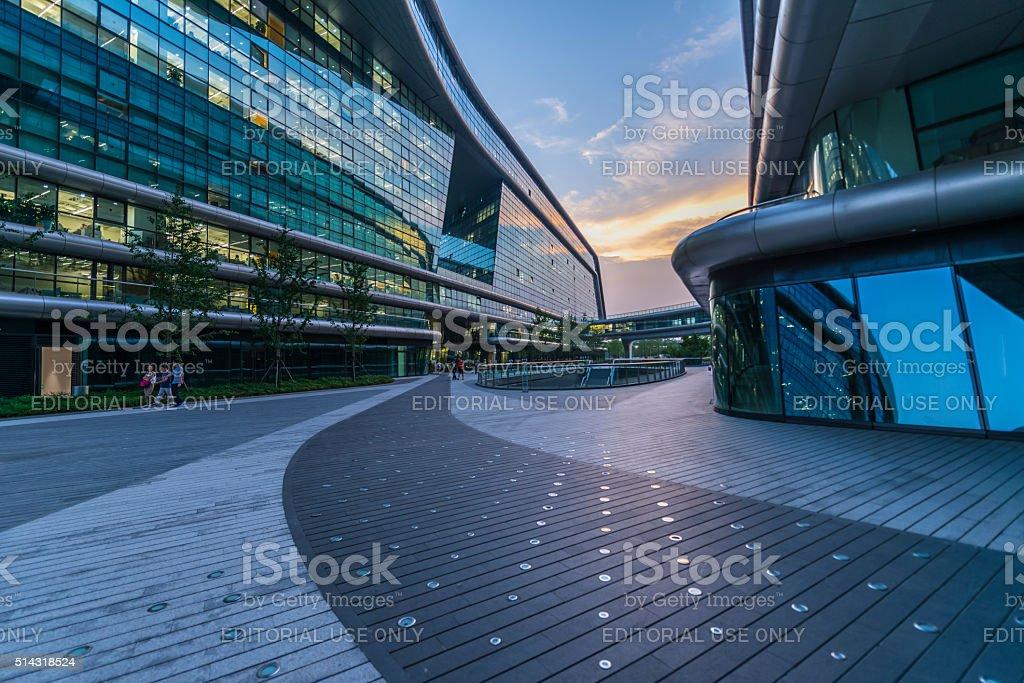 Shanghai Hongqiao Sky Soho building stock photo