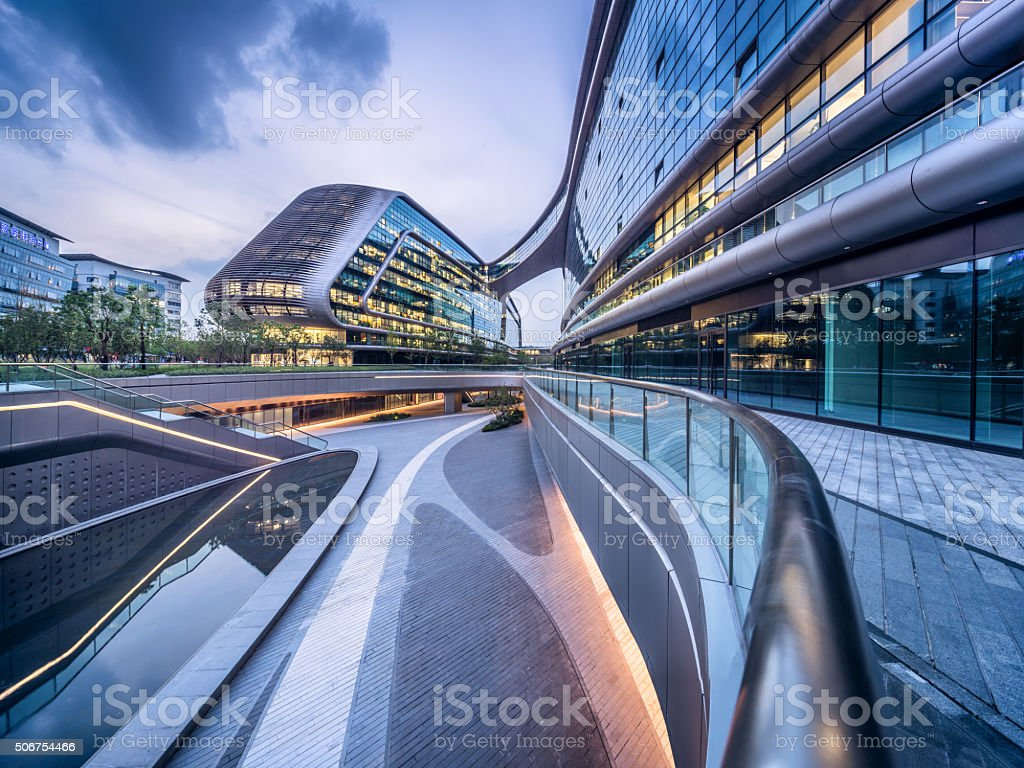 Shanghai Hongqiao SOHO Architecture stock photo
