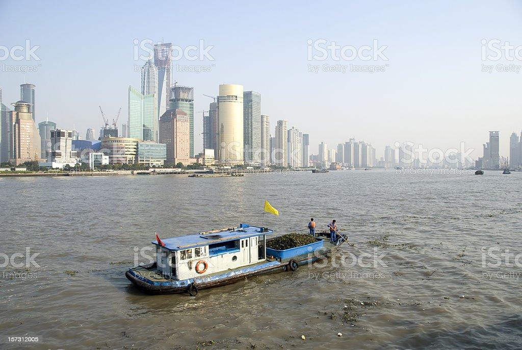 Shanghai Huangpu River royalty-free stock photo
