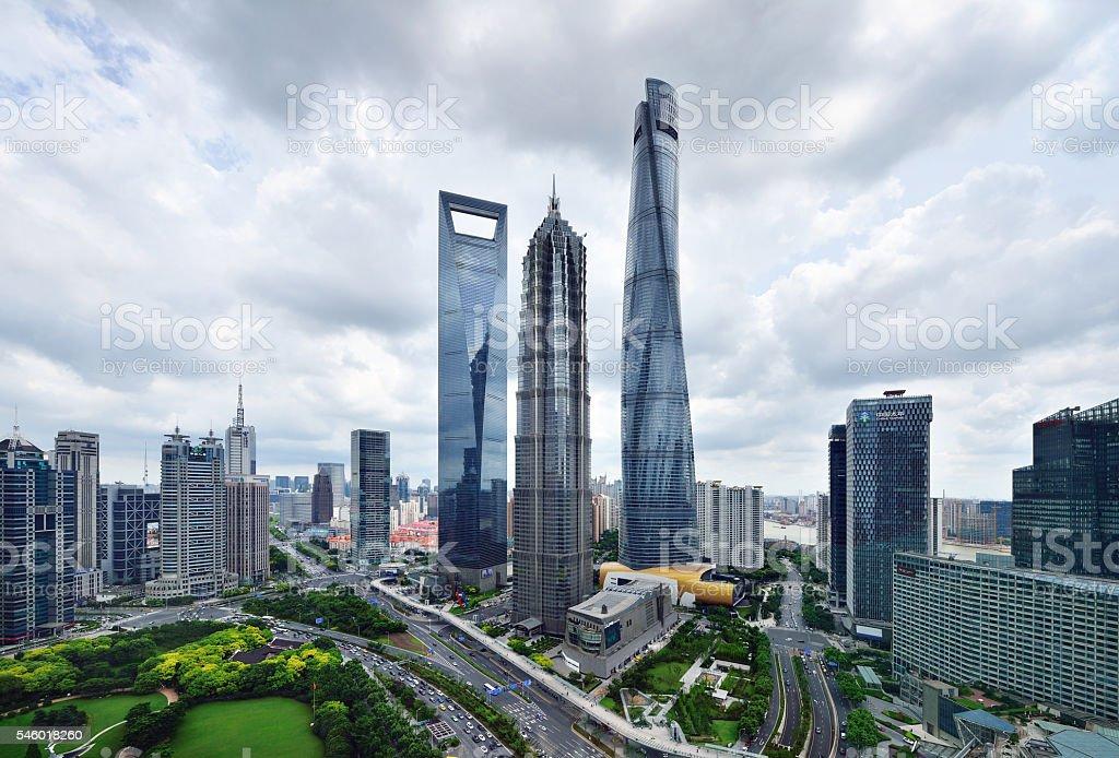 Shanghai Landmark Skyscraper stock photo