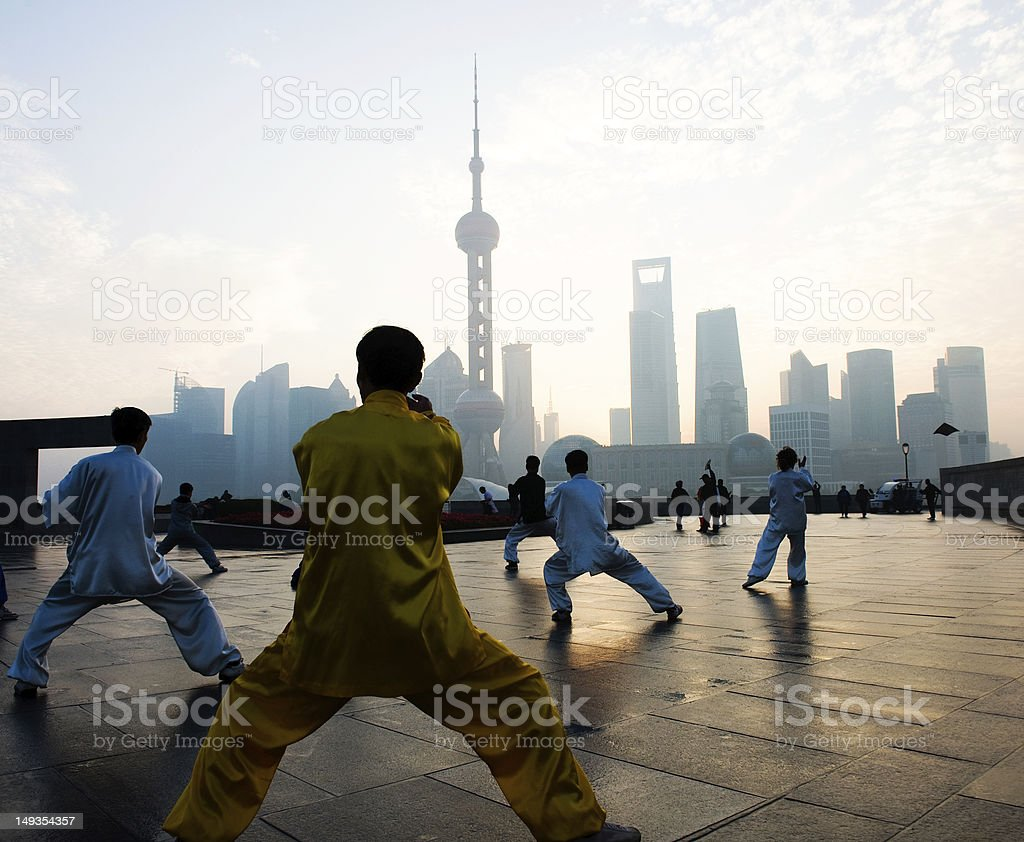 shanghai life royalty-free stock photo