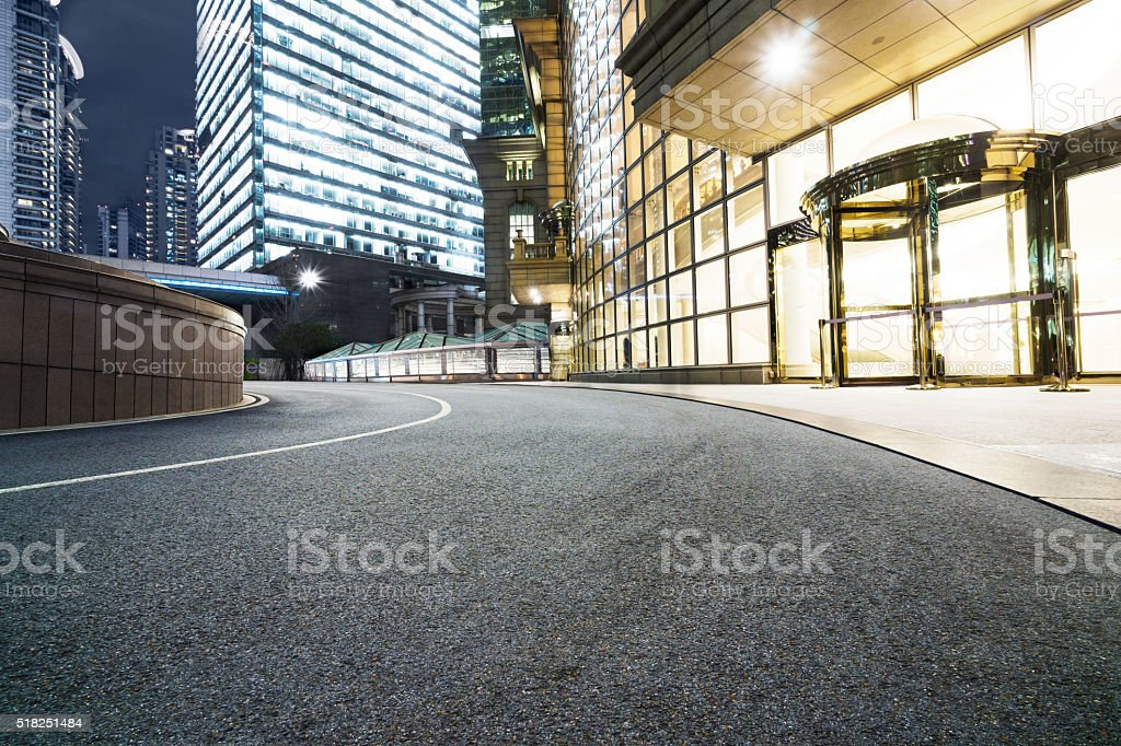 shanghai lujiazui at night. stock photo