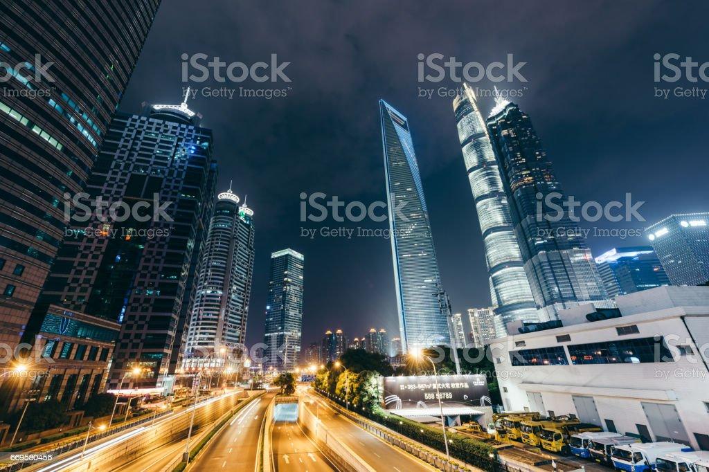 Shanghai Lujiazui Financial District stock photo