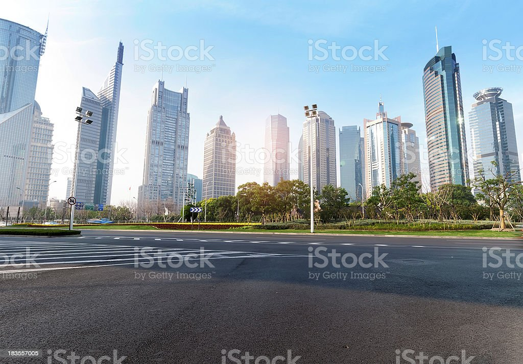 shanghai Lujiazui royalty-free stock photo