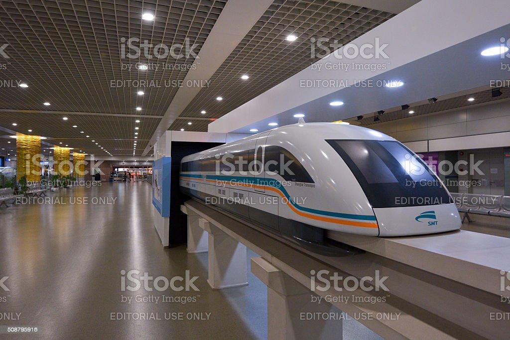 Shanghai Maglev Train - Shanghai Transrapid stock photo