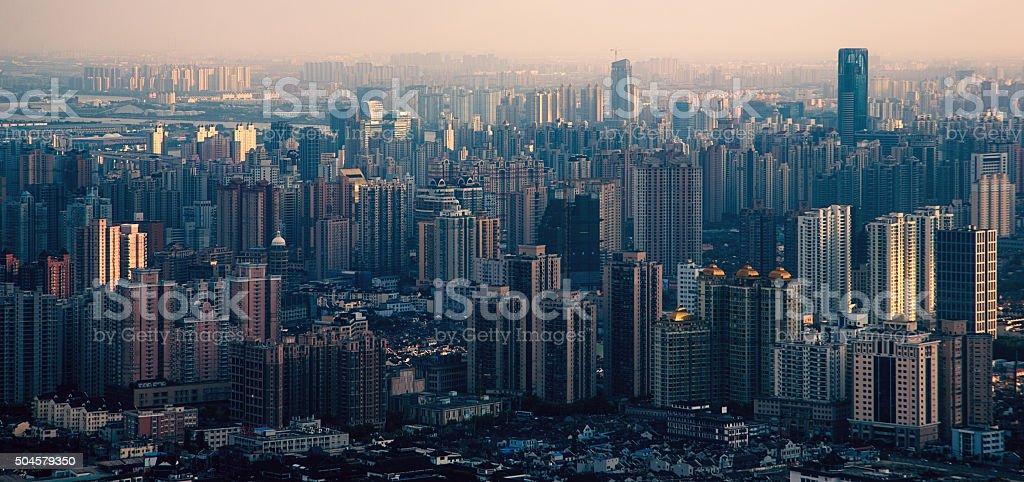 Shanghai megacity stock photo
