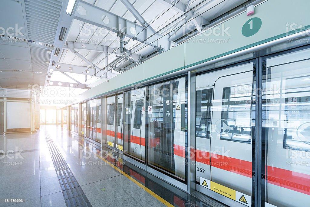 Shanghai Metro stock photo
