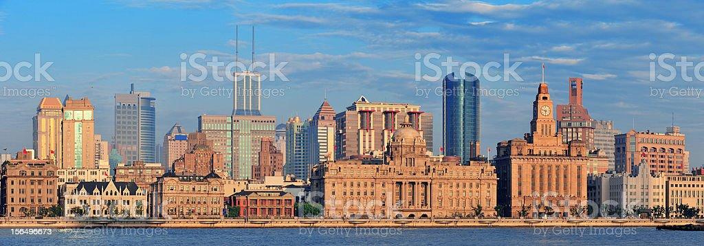 Shanghai morning panorama royalty-free stock photo