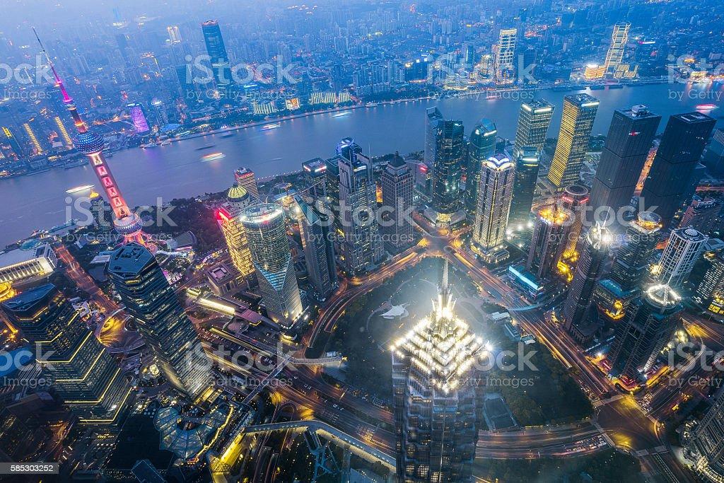 Shanghai New Angle Panorama stock photo