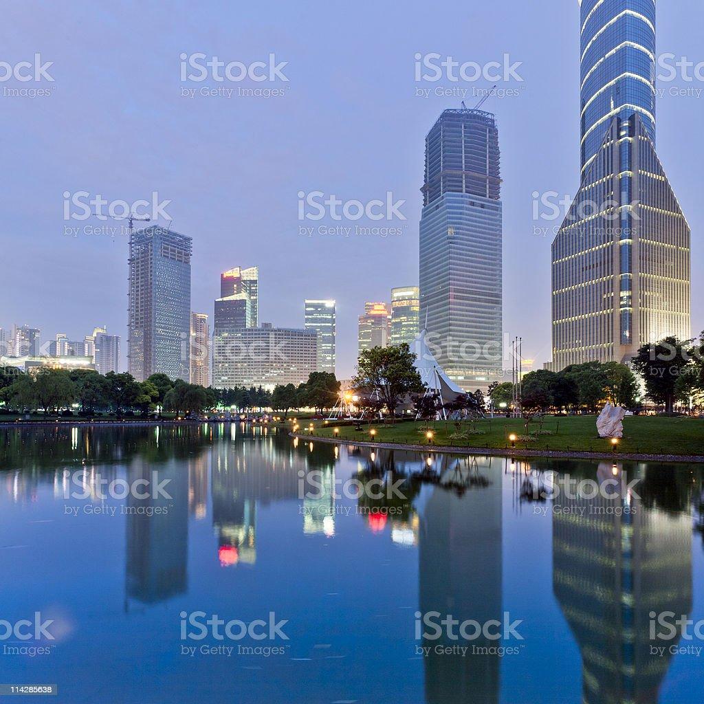 shanghai night stock photo