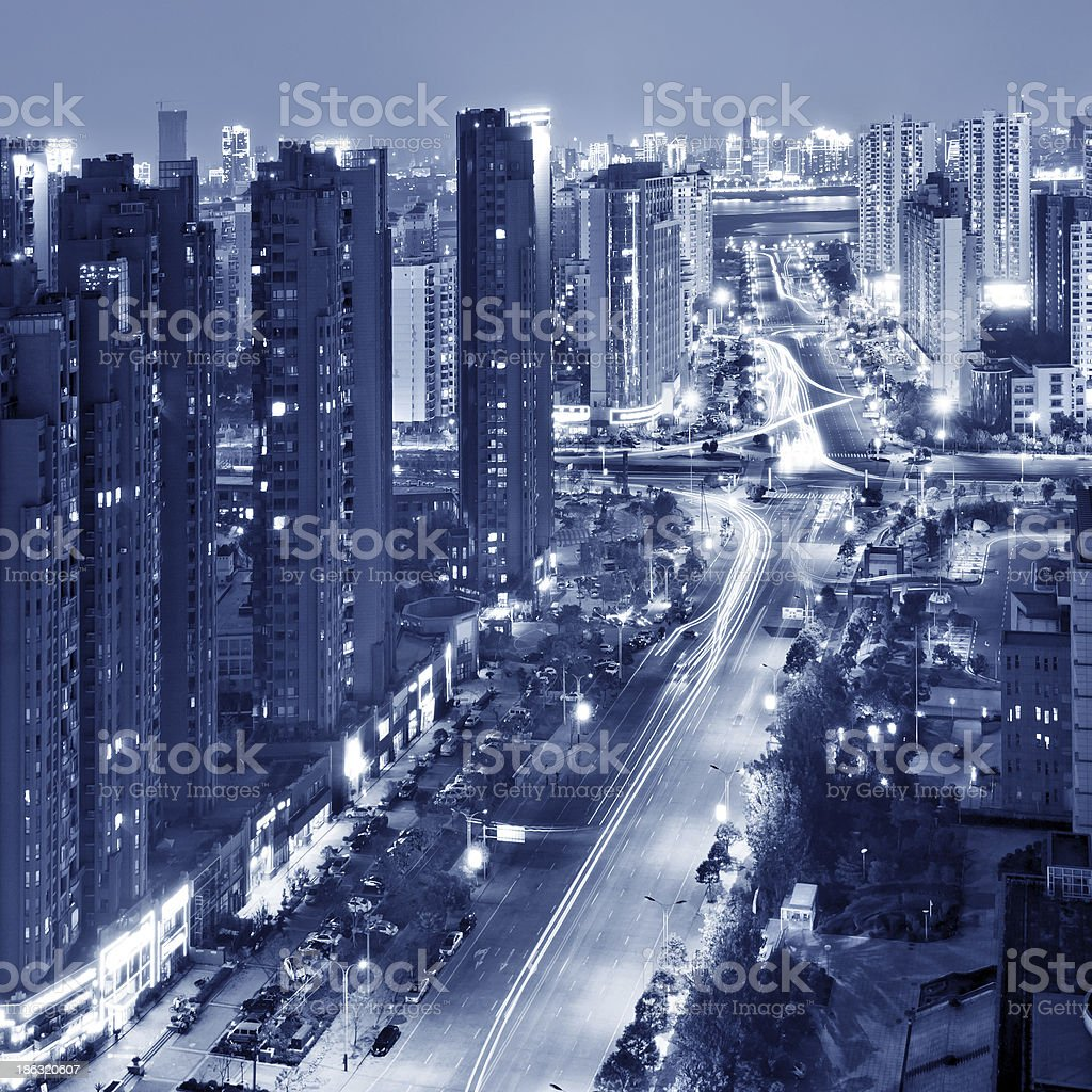 Shanghai Night royalty-free stock photo