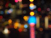 Shanghai night view, defocused image.