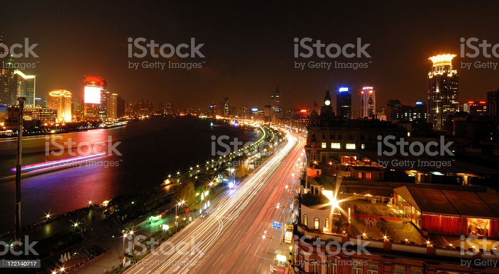 Shanghai Nights royalty-free stock photo