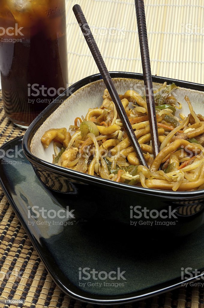 Shanghai Noodles royalty-free stock photo