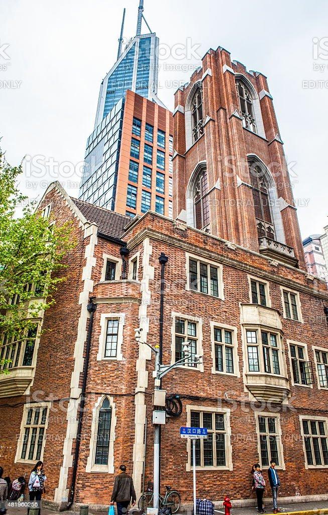 Shanghai old building-Immanuel Lutheran Church stock photo