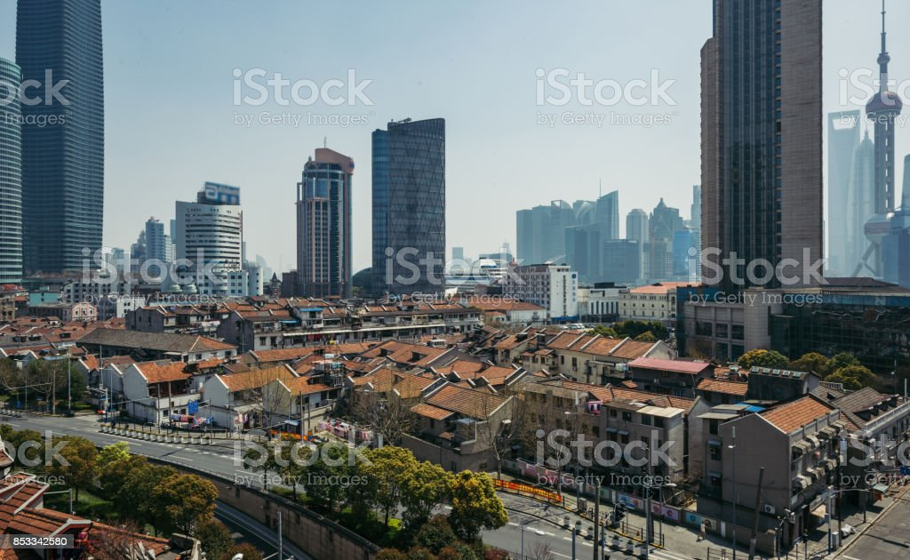 Shanghai Old Residential building stock photo